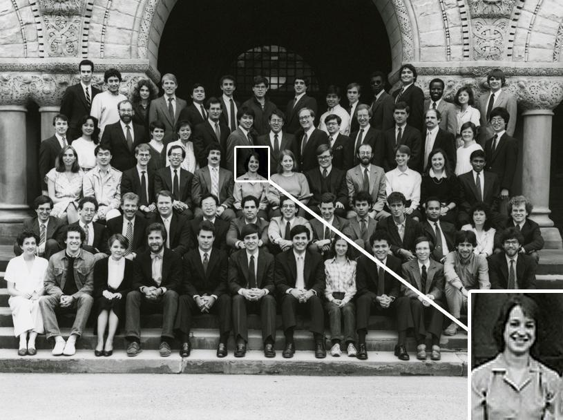Elena Kagan, pictured here in a 1985-1986 Harvard Law Review Board of Editors portrait in front of Austin Hall, graduated magna cum laude from Harvard Law School in 1986. She attended Princeton as an undergraduate and also holds a Master of Philosophy degree from Oxford University.