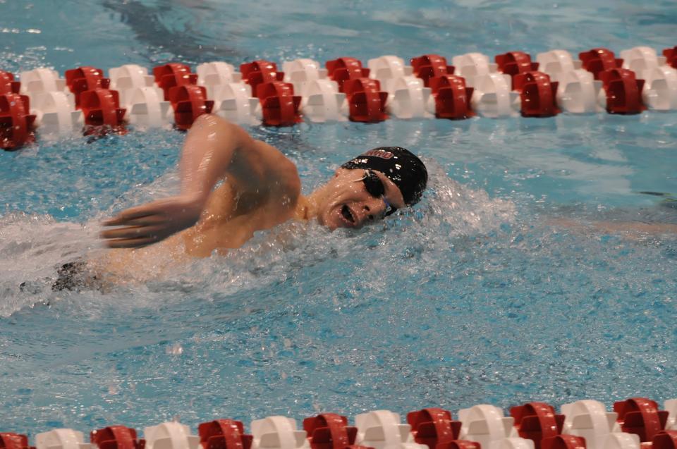 Co-captain Alex Meyer led the Crimson men's swim team to another strong season, in which the squad finished second to Princeton at the Ivy League Championships once again. Meyer ended the season on a high note, placing 14th in the 1,650-yard freestyle at NCAA's to earn All-American honors.