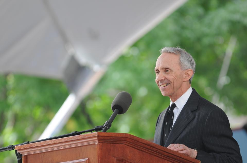 Justice David H. Souter '61 delivers the Commencement address for the class of 2010.