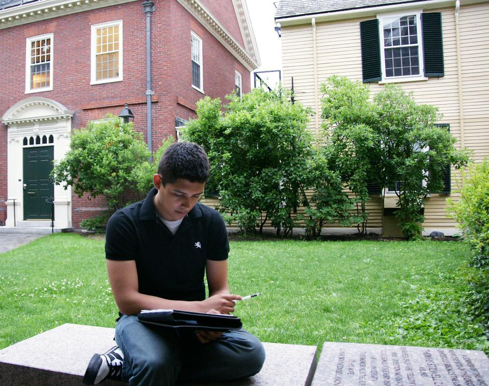 Eric Balderas '13 no longer faces deportation and will be allowed to continue his studies at Harvard.