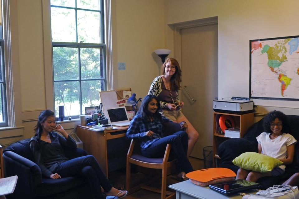 Esther Chung '14, Medha-Kameswari Gargeya '14, Meghan Brooks '14, and Sheyda Aboii '14 reflect on their rooming assignments.
