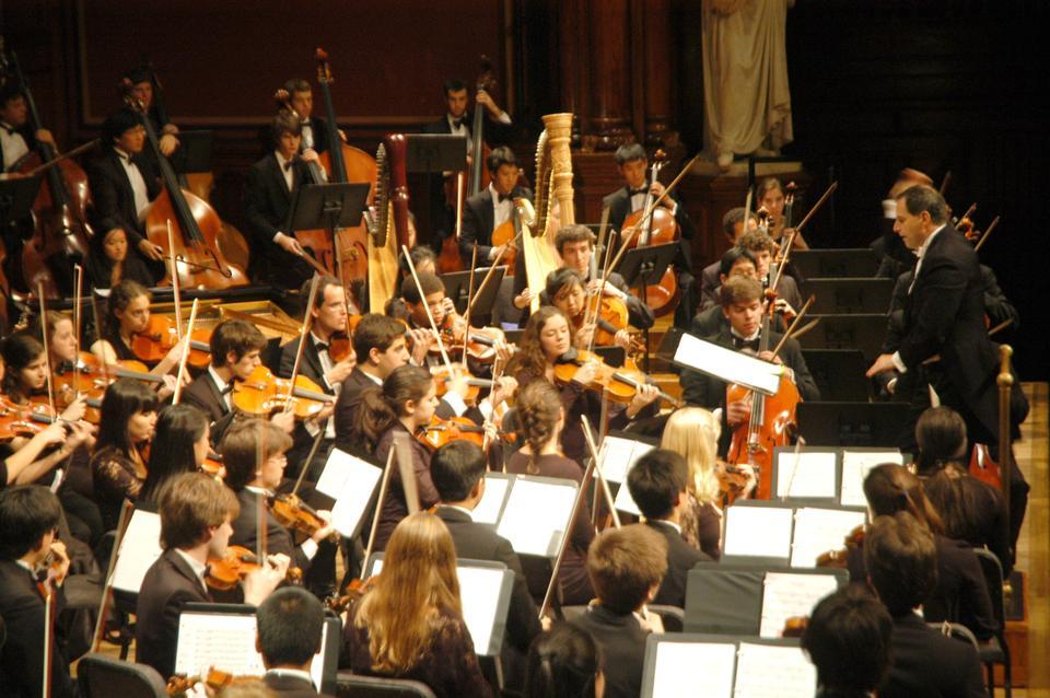 Harvard Radcliffe Orchestra performed pieces by Verdi, Yannatos, and Dvorak on Friday at their Freshman Parents Weekend Concert.