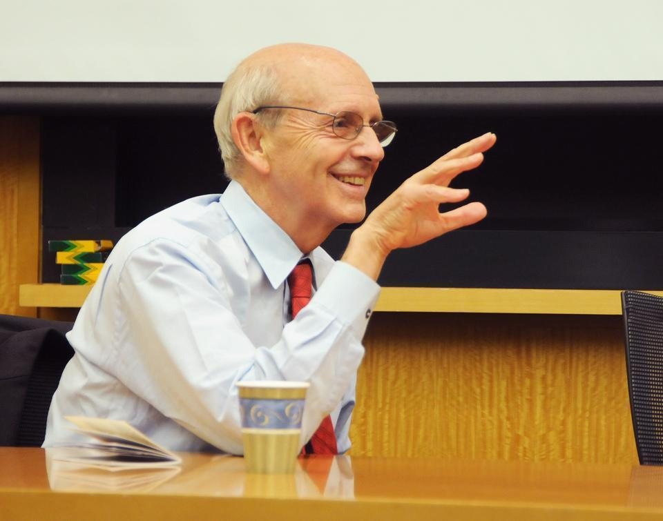 Supreme Court Justice Stephen Breyer speaks about the Supreme Court's role in a number of cases from Marbury v. Madison to the Korematsu Trials last night. Breyer also discussed his new book, American Liberty.