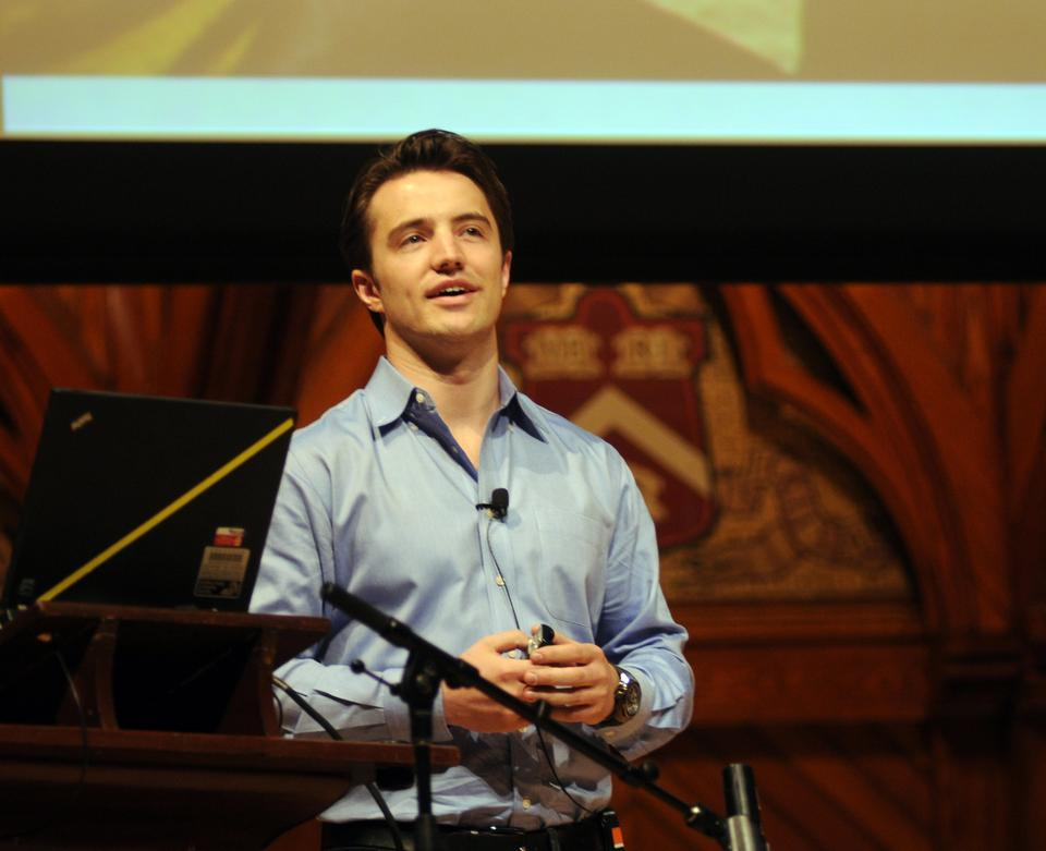 At Bridging the Gap, Hugo van Vuuren, the founder of Lebone, discusses the importance of developing simple, effective solutions to energy needs in developing countries. The event took place last Saturday in Sander's Theater.