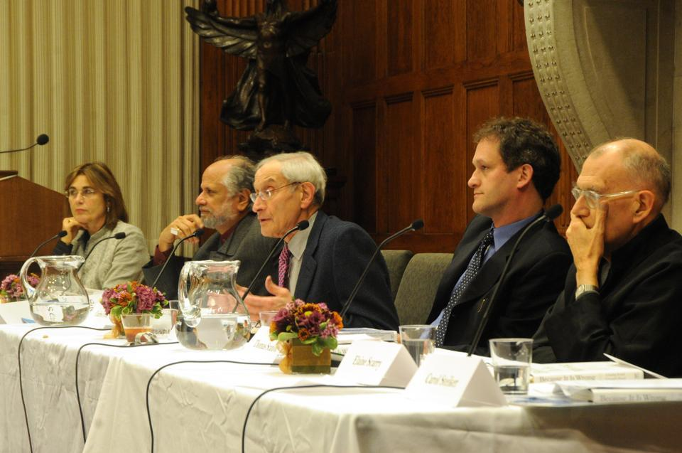 """Harvard Law School Professor Charles Fried and his son Gregory Fried discuss their recently published book """"Because It Is Wrong: Torture, Privacy and Presidential Power In The Age of Terror."""" They discussed the book yesterday evening in the Barker Center through a game of Twenty Questions with a panel of professors as the questioners."""