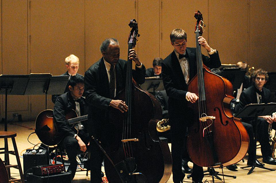 """Organized by the Harvard Jazz Bands and the Office for the Arts, """"Walking the Bass Line: A Tribute to Milt Hinton"""" featured jazz bassist and guest of honor Cecil McBee."""