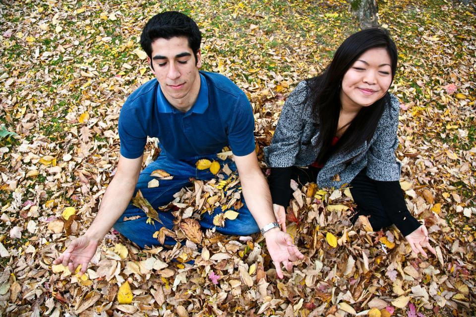 Days with Ebrahim and Cao are spent serving on the UC, with some time left for playing in the leaves.