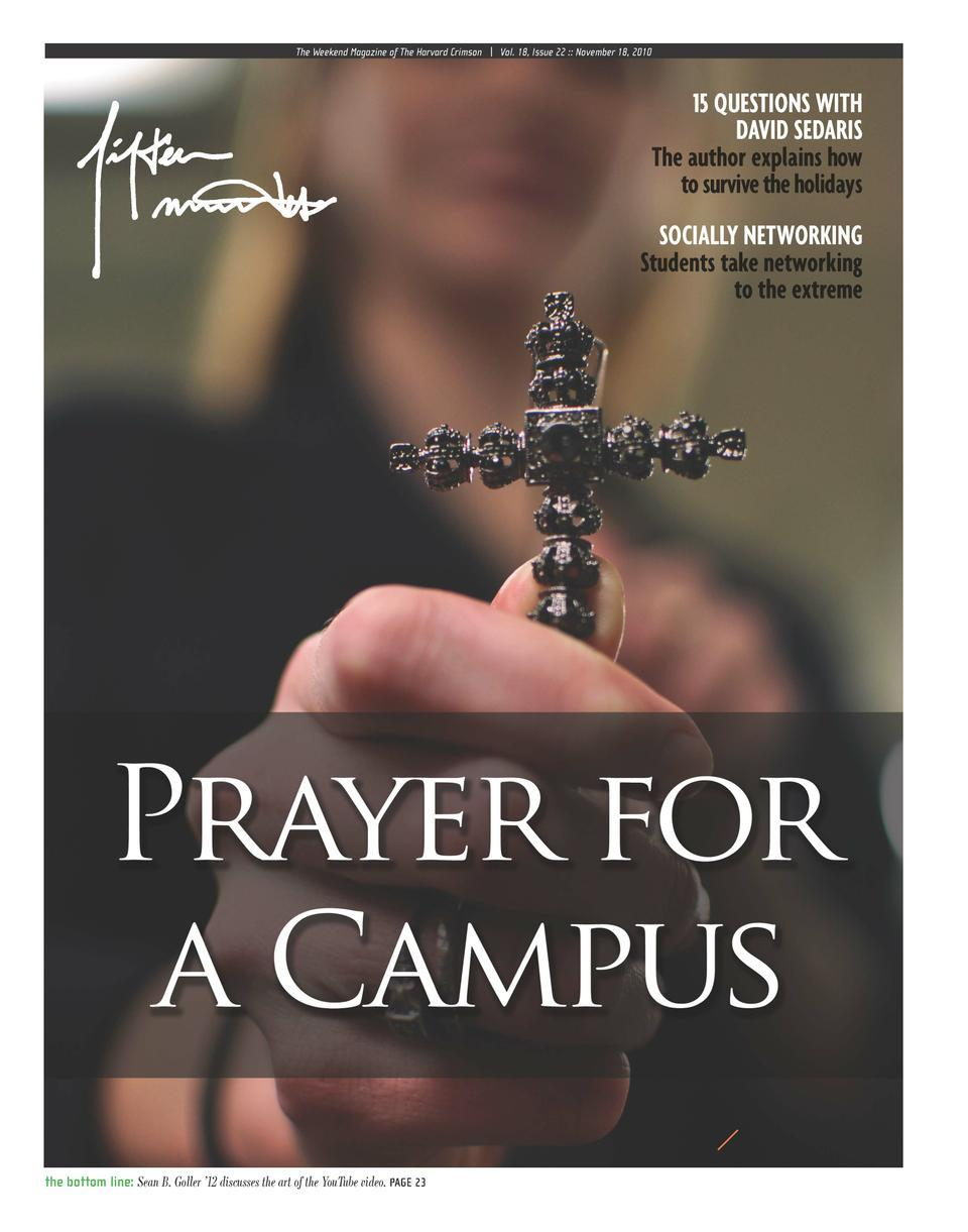 Fifteen Minutes magazine reports on religion on campus in their November 18 issue.