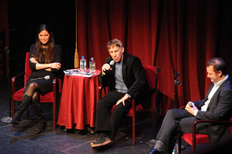 A.R.T. Artistic Director Diane Paulus and Stephen Schwartz, creator of the musicals Wicked, Pippin, and Godspell hold a discussion about the American musical to a full crowd at Club Oberon Tuesday evening.