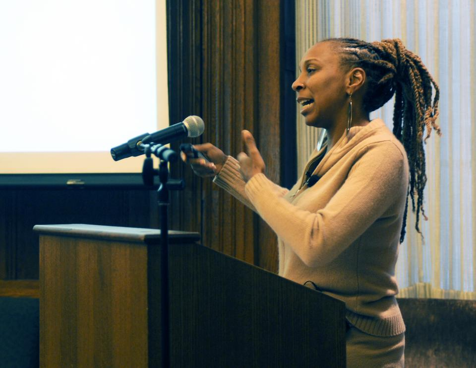 The W. E. B. Du Bois Institute for African and African American Studies hosts Kimberlé W. Crenshaw, professor of law, for a three part lecture series held in the Barker center Tuesday, Wednesday, and Thursday.