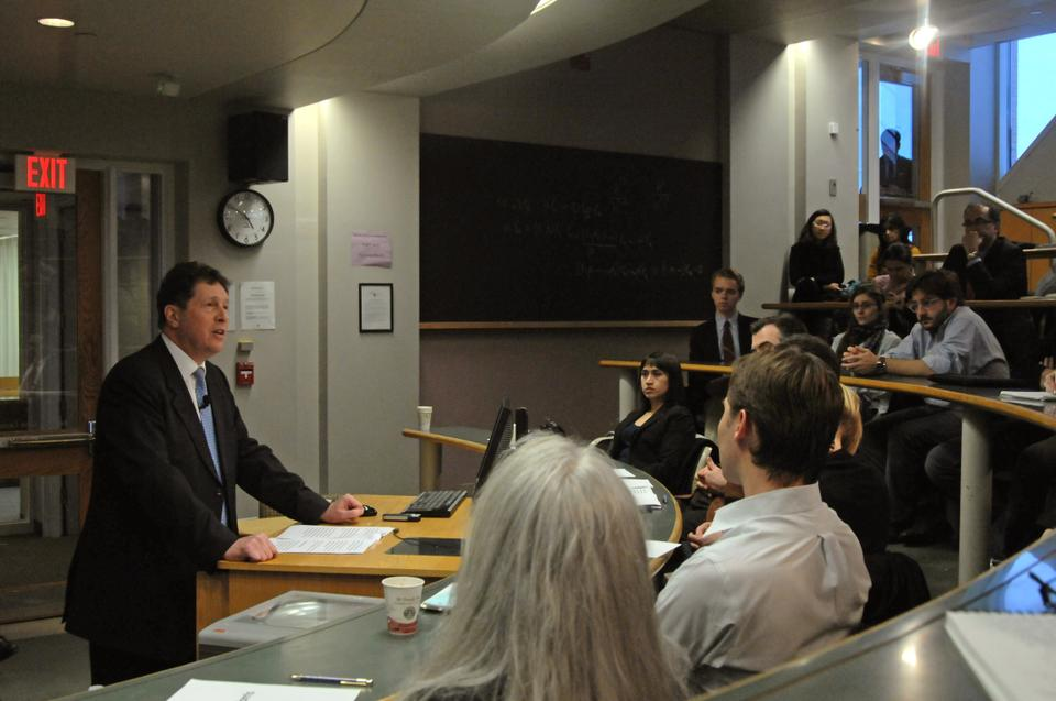 Sir Nigel Sheinwald, British Ambassador to the US, speaks at the Kennedy School about Britain's plans to manage budget cuts while maintaining defense, security and relations with the EU, the United States and the world.