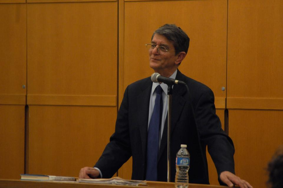 "James Kugel spoke about his new book, ""In the Valley of the Shadow: On the Foundations of Religious Belief,"" at Harvard Hillel last Tuesday."