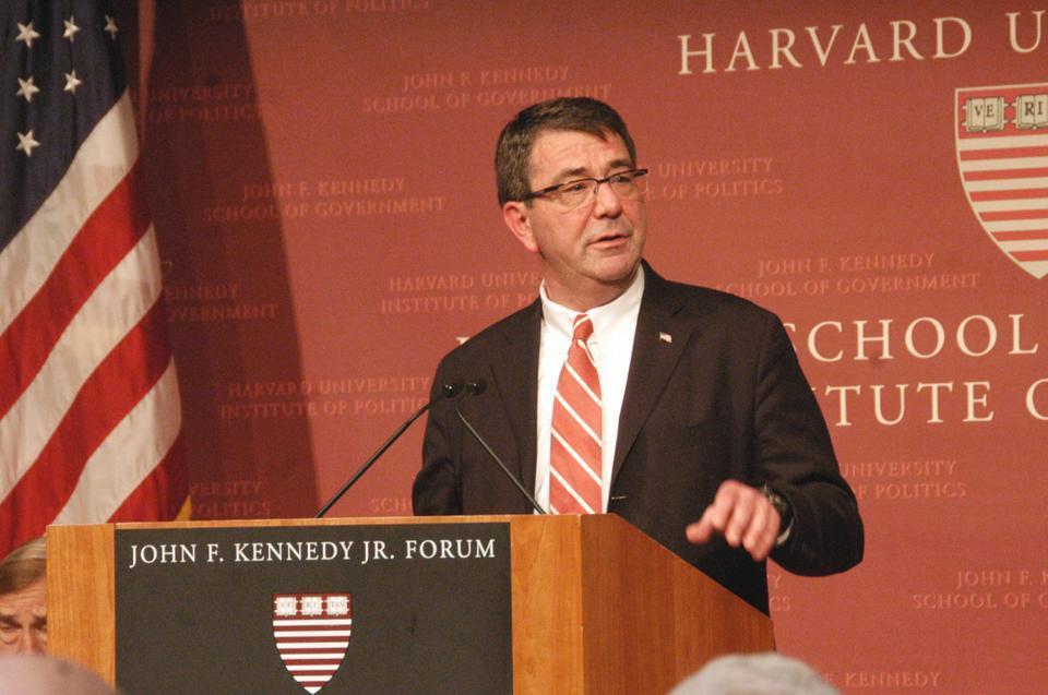 "Ashton B. Carter delivers a 2011 address at the JFK Jr. Forum entitled ""Wars and Budget Wars: Managing in the Pentagon."""