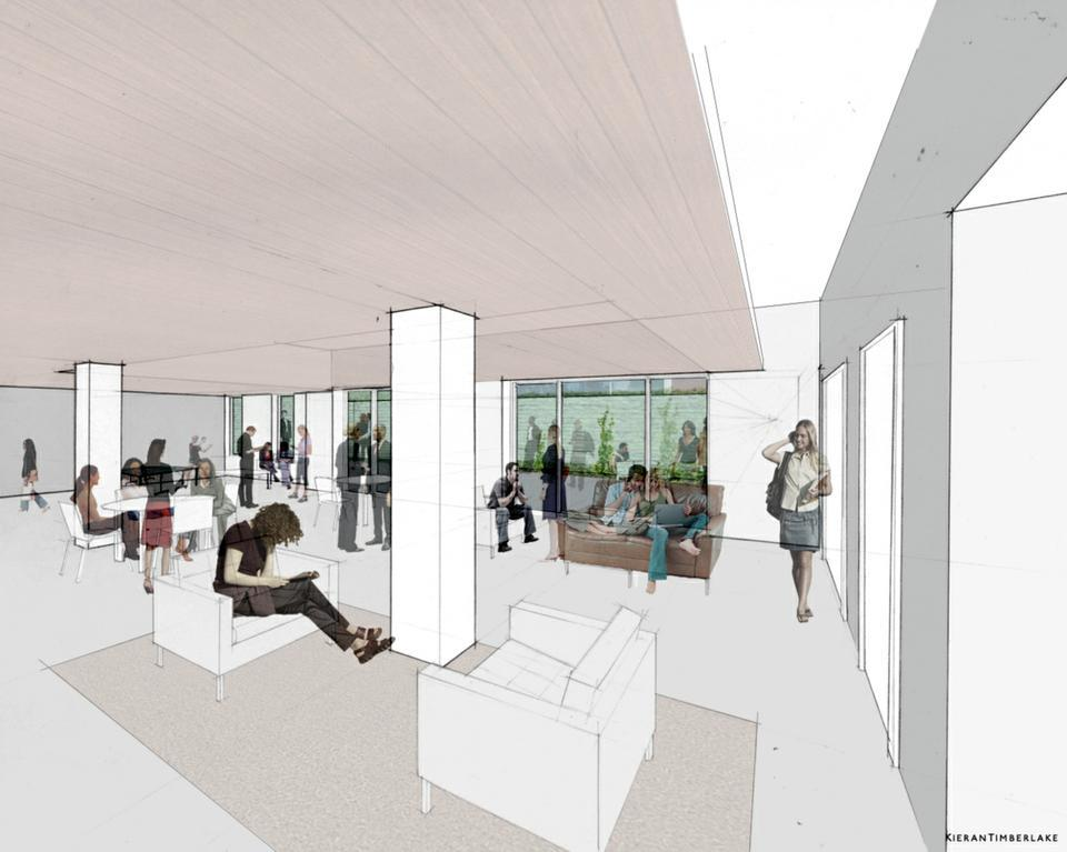 An underground common room with access to a terrace will be one of the most significant changes to Old Quincy when renovations are complete in 2013.
