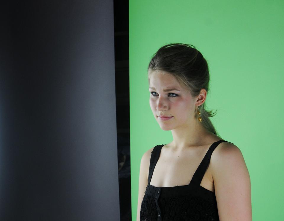 Rina A. Kuusipalo '14 takes part in the 15 Hottest Freshman photo shoot.