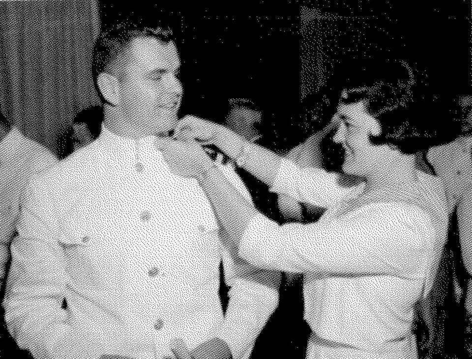 Lt. William Cronin during his commissioning ceremony. Harvard ROTC despite being controversial now was a relatively well accepted part of Harvard life during the 60s.