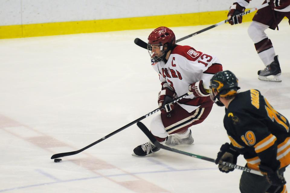 Co-captain Michael Del Mauro and the Crimson had a poor start to the season but put together a series of strong performances as the year wound down. In the ECAC tournament, Harvard swept Clarkson and won the first game against Dartmouth before dropping the next two.