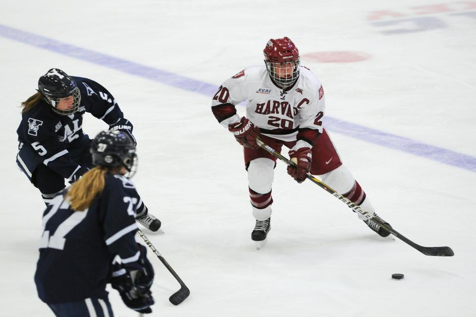 Tri-captain forward Kate Buesser led her team with 15 goals on the year, including five power play scores and three game-winners. The Harvard women's hockey team made up for its slow start with a six-game winning streak in January, with the last of those wins coming against rival Yale.