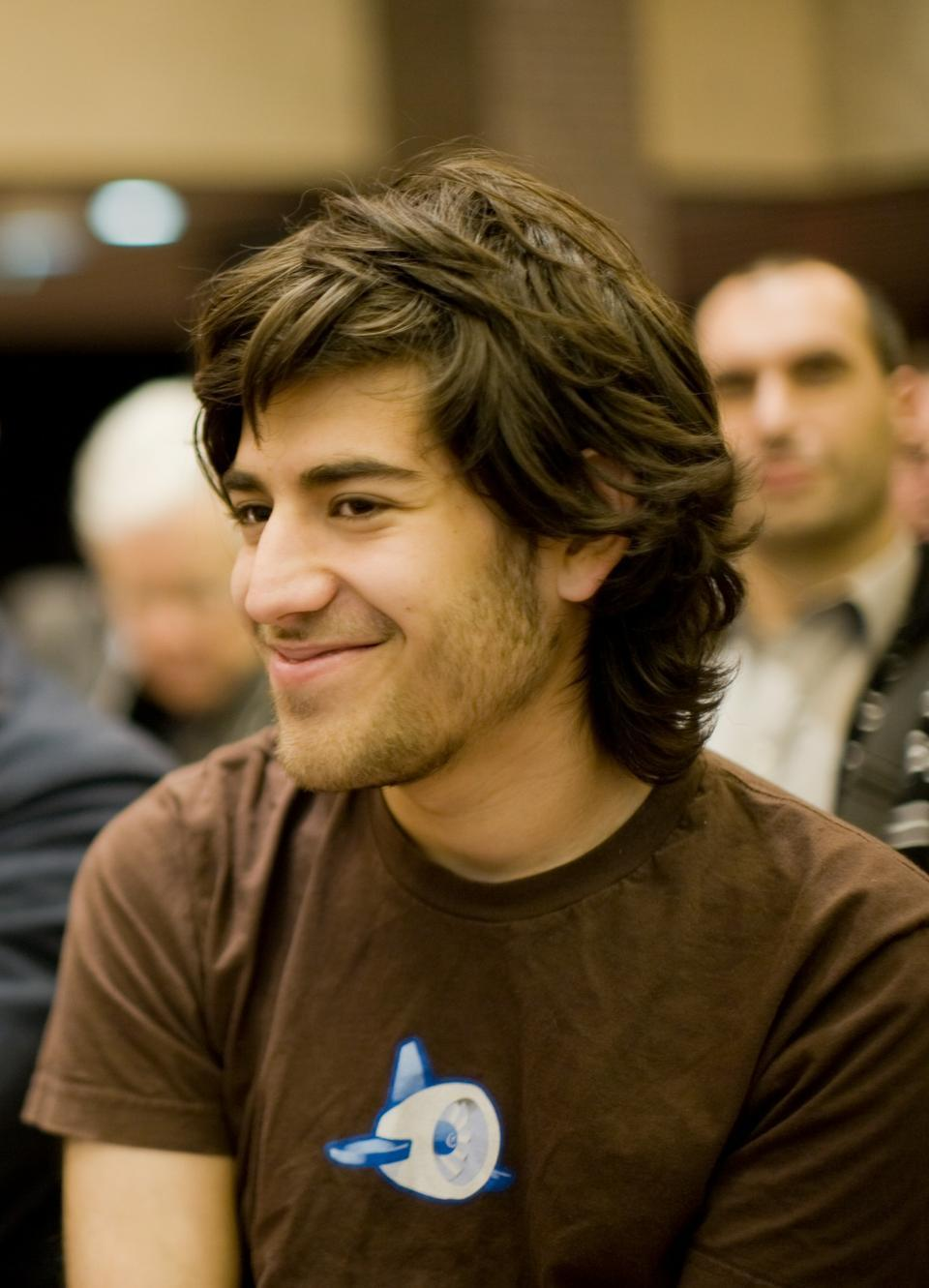 Aaron Swartz, pictured here, is accused of hacking into MIT's network and stealing over four million documents from JSTOR.
