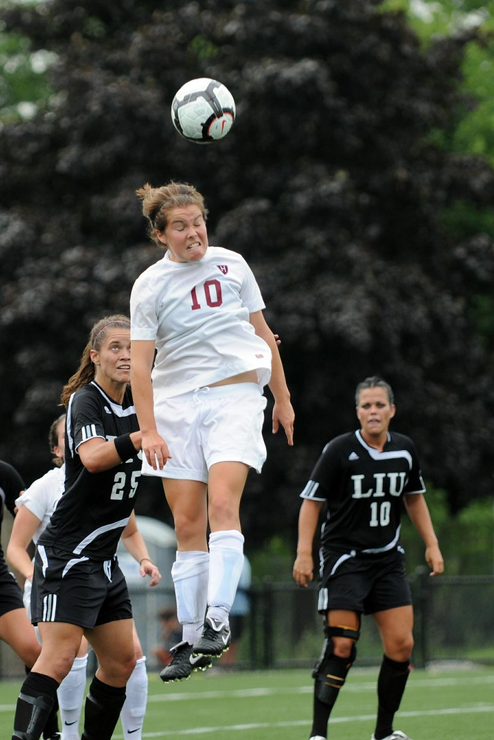 Women's soccer co-captain Melanie Baskind leads Harvard into home games against local opponents UMass and UConn this weekend. The Crimson is coming off a dramatic 2-1 victory over Elon last Sunday.