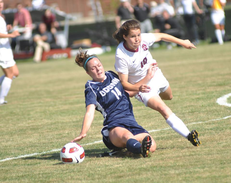 Women's soccer took down two Northeast rivals to stay perfect on its home field(s) this weekend.