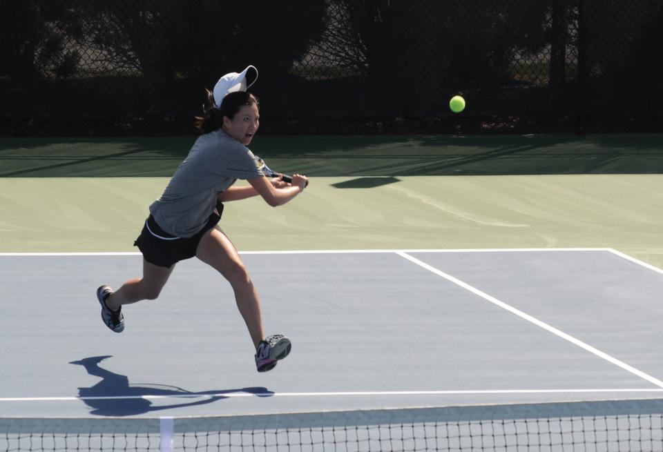 Junior co-captains Hideko Tachibana, shown above, and Kristin Norton finished on top in the doubles meet at the Harvard Fall Classic this weekend. Five other northeastern schools participated in the tournament, which saw Norton also come out as the victor in the singles bracket.