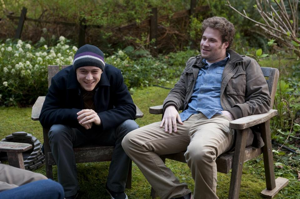 """Joseph Gordon-Levitt and Seth Rogen star in """"50/50,"""" a comedy about coping with cancer, written by Will Reiser."""