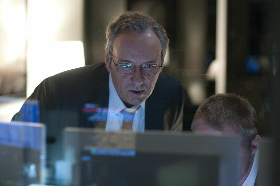 """Kevin Spacey plays Sam Rogers, a conflicted financial executive working at a Wall Street firm during the start of the 2008 financial crisis, in J.C. Chandor's film """"Margin Call."""""""