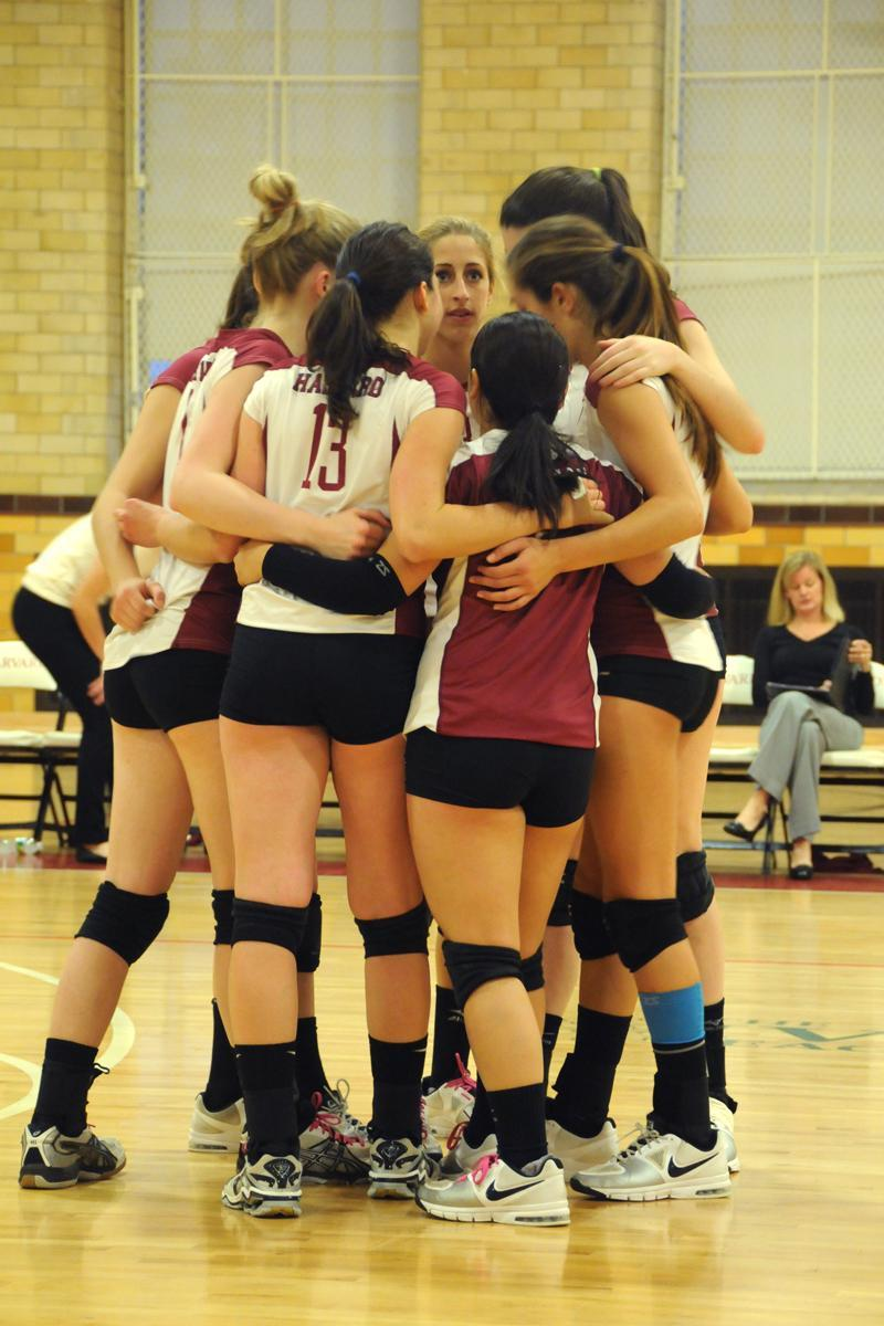 The Harvard women's volleyball team fell to Columbia on the road tonight in straight sets.