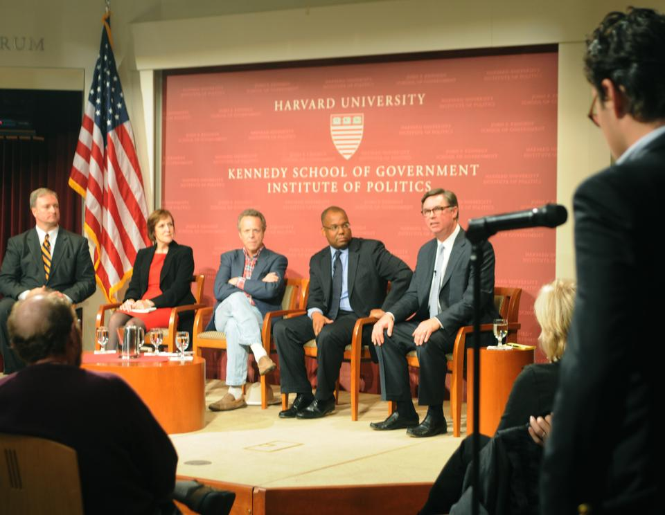 "Harvard Institute of Politics holds a forum called ""Campaign 2012: How Americans Will Select Their Next President,"" which focus on the possiblity of a third party option in the upcoming presidential election."