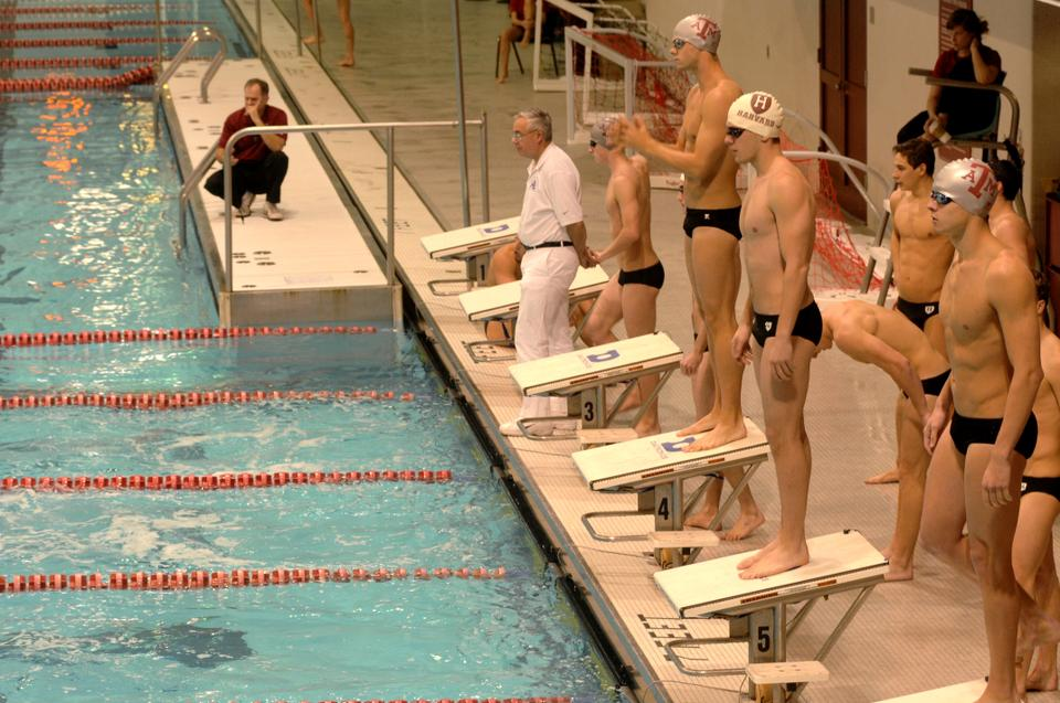The Crimson's men's swimming team faced off against Texas A & M this Friday at the Blodgett pool. Harvard opens the season having won 10 straight dual meets dating back to the 2009-10 season.