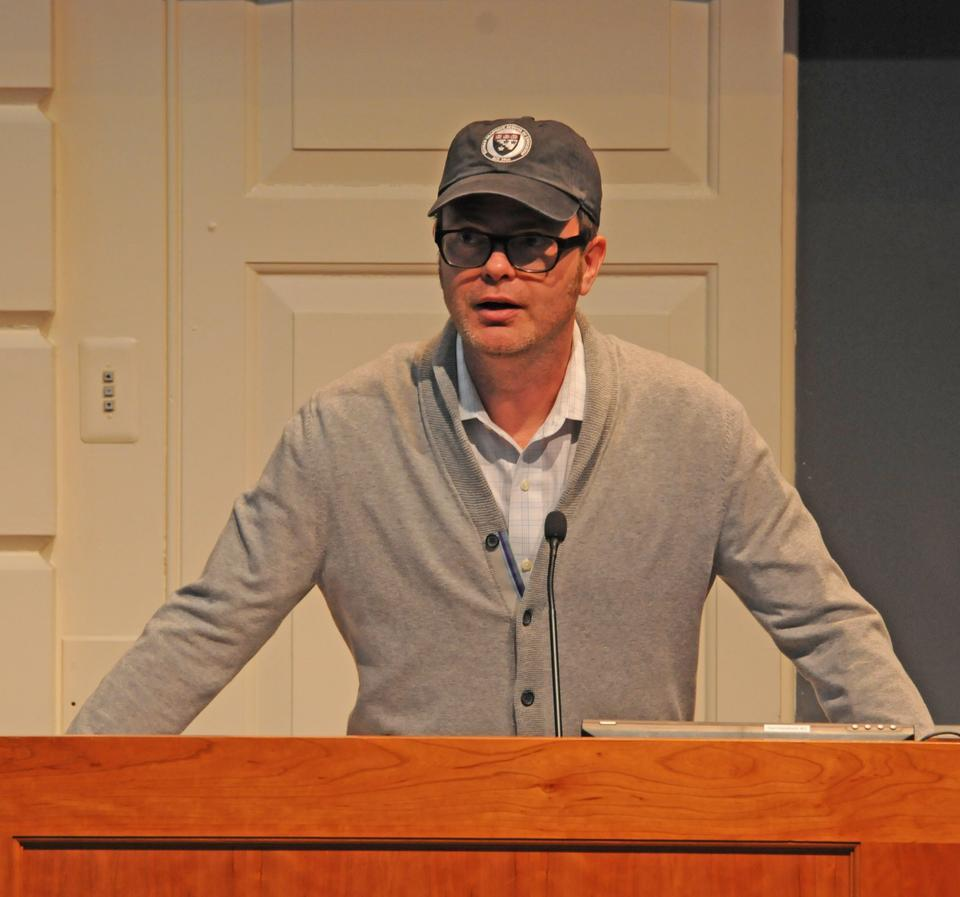 In a very un-Schrute manner, Rainn Wilson discusses the documentary Education Under Fire and the predicament of the Baha'i community in Iran while sporting a Harvard Graduate School of Education hat.