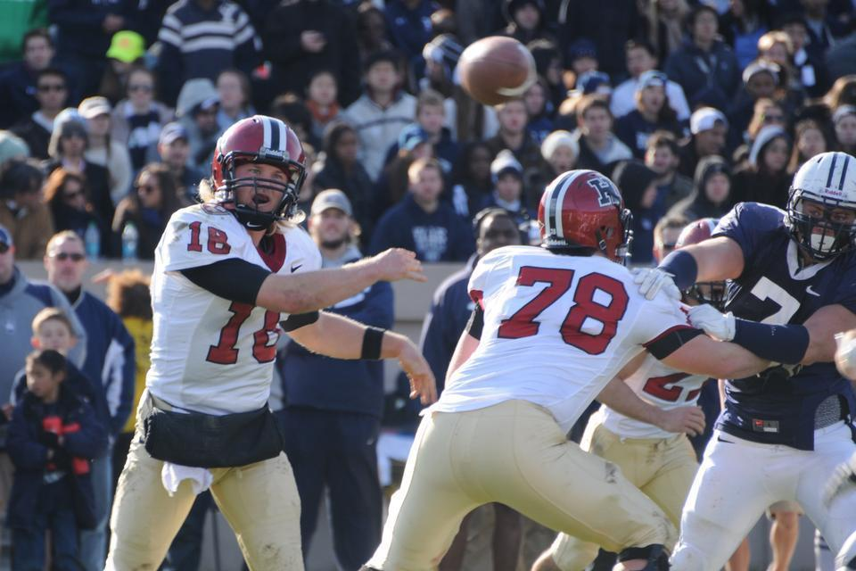 16' Collier Winters lead the Harvard passing attack with 355 yards and 2 tds. He also rushed for a touchdown. Harvard defeated Yale 45 to 7.