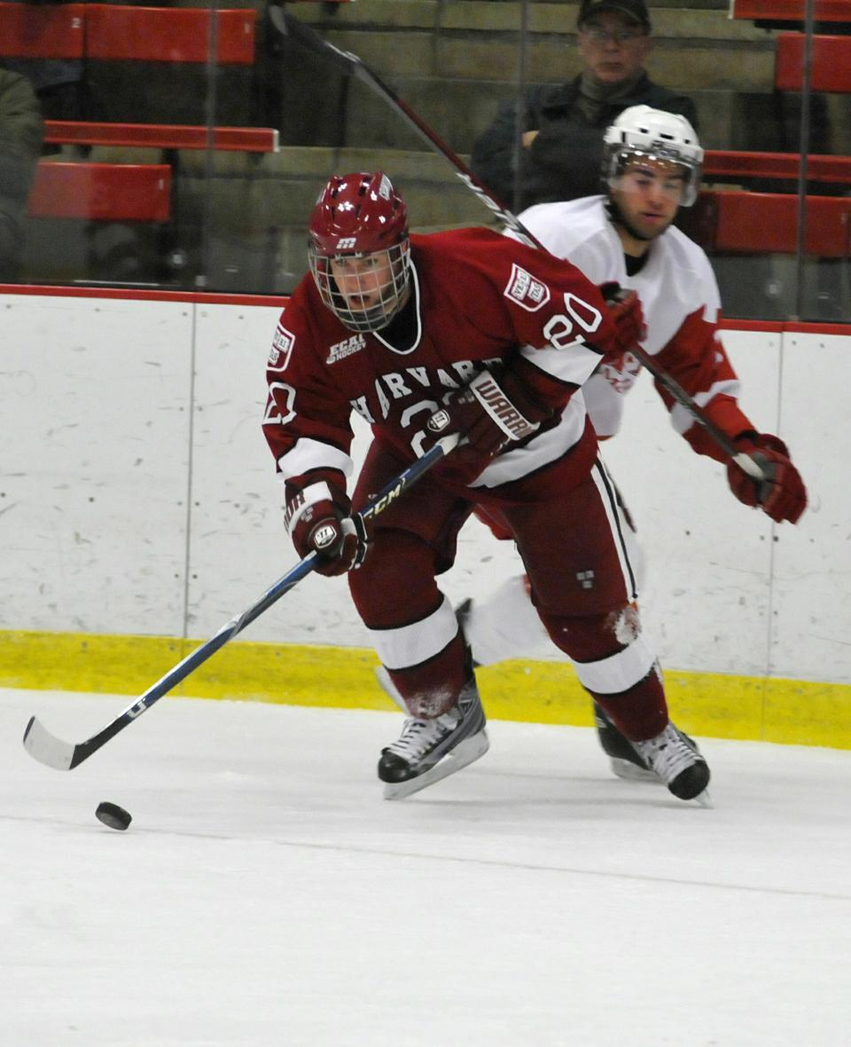 During his one season at Harvard in 2009-2010, Louis Leblanc led the Crimson with 23 points. Leblanc left after his freshman year and is currently playing for the Hamilton Bulldogs. In his first game with the AHL team, he scored the game-winning goal in overtime and also had two assists in the contest.