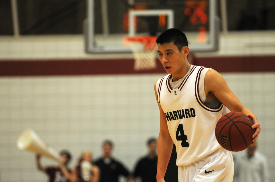 Jeremy Lin '10, shown here during a game against Cornell his senior year, has experienced a meteoric rise to fame and international recognition since his series of high scoring games while playing for the New York Knicks.