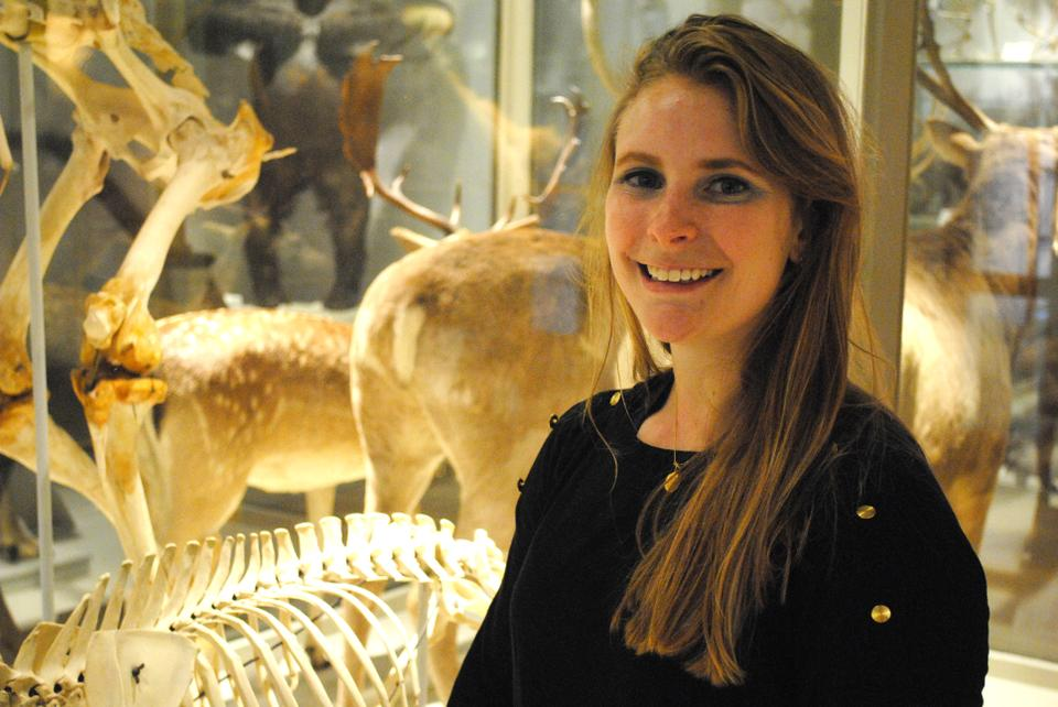 Mary Griffin 13', explores the Harvard Museum of Comparative Zoology.