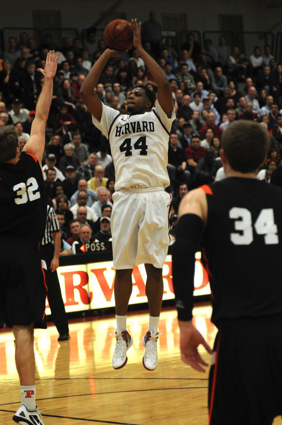 Co-captain Keith Wright, shown here in action against Princeton on Friday night, was chosen to play at this year's Portsmouth Invitational.