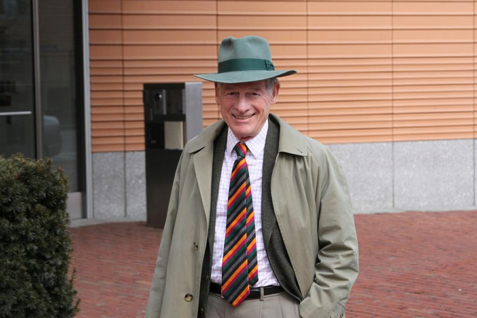 Harvey C. Mansfield '53, a government professor, has attended some of the John Adams Society's events.