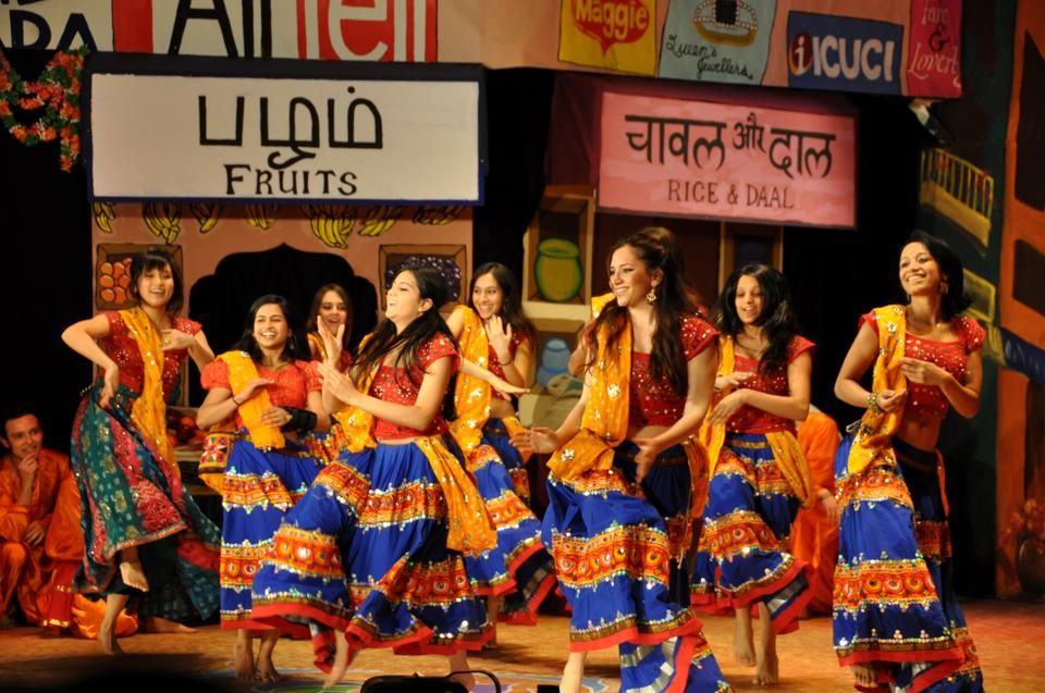 Bollywood Oldies dancers perform Saturday night during the last show of Ghungroo 2012. With hundreds of performers and many dances and performances, the show was sold out on both Friday and Saturday nights.