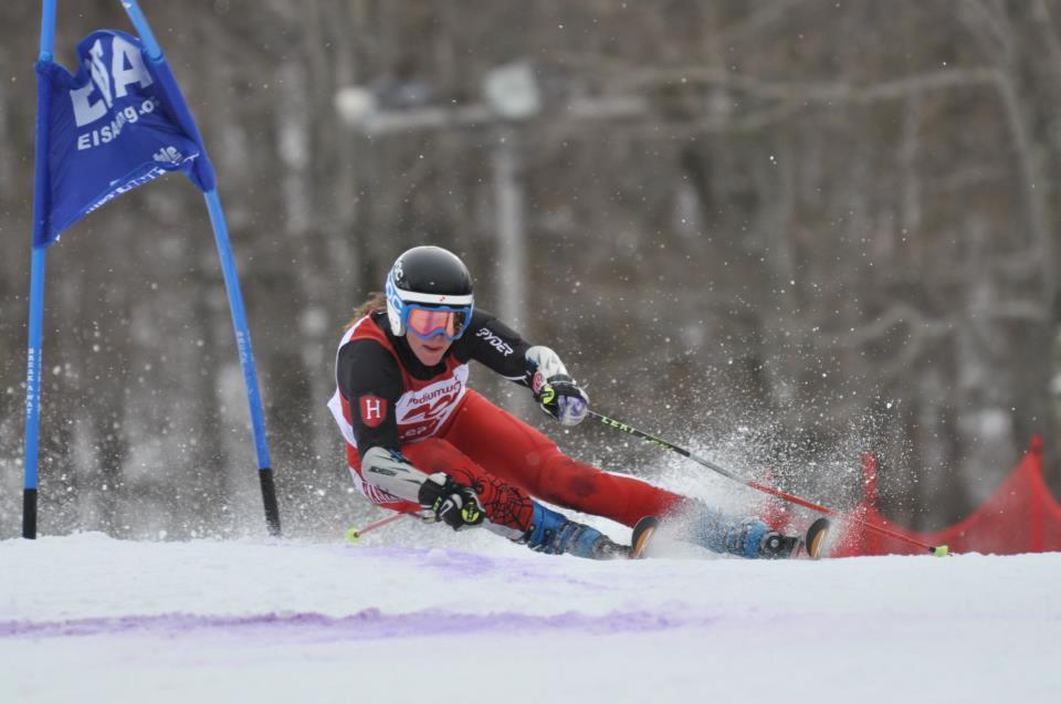 Sophomore Rebecca Nadler, shown here in earlier action, became the first Crimson skier in program history to win an individual national championship on Thursday.