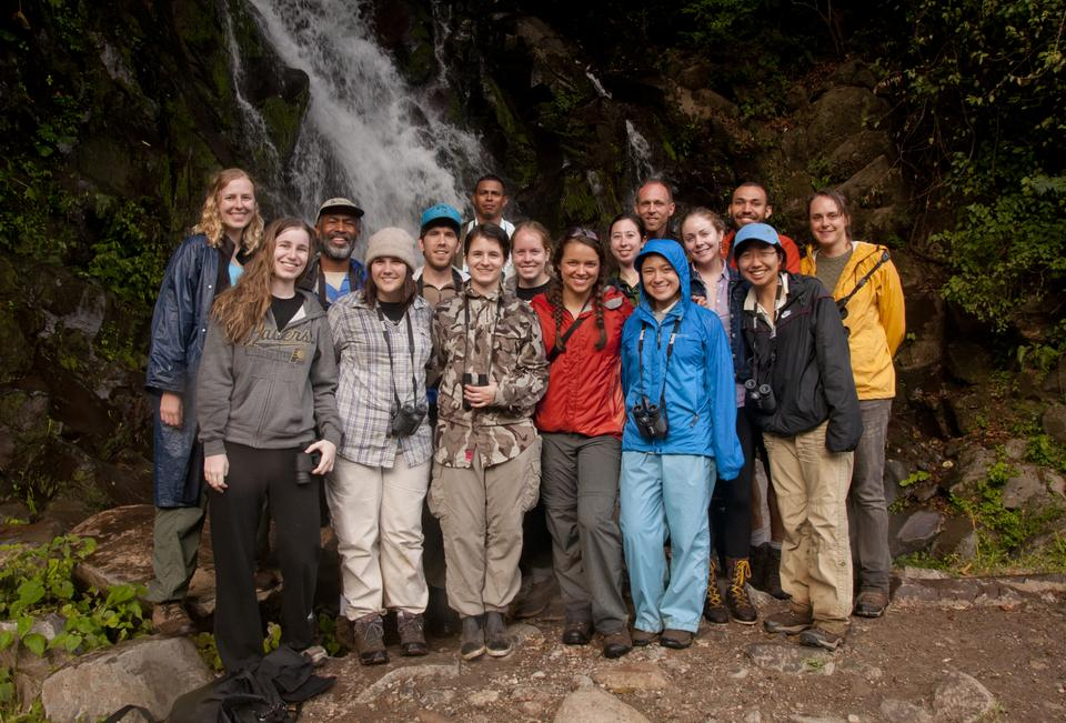 Professor Scott Edwards and 13 students from OEB190: Biology and Diversity of Birds visited the highland rainforest near Volcan Baru in Panama over Spring Break for bird watching.
