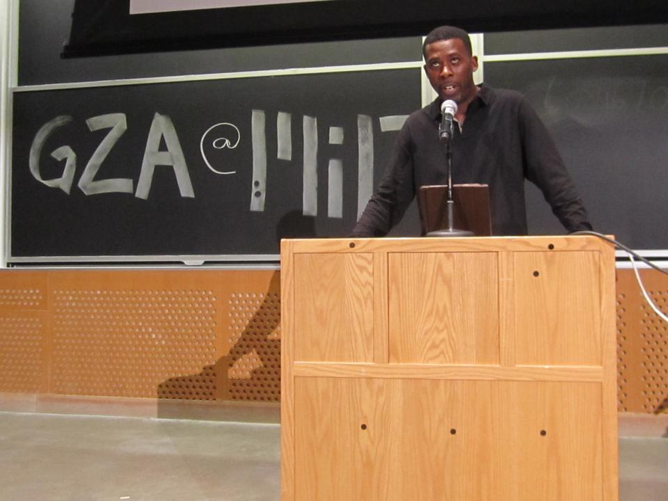 Gary Grice, also known as GZA and The Genius, spoke at the Massachusetts Institute of Technology on Wednesday, March 21. He is a founding member of the hip-hop group Wu-Tang Clan.