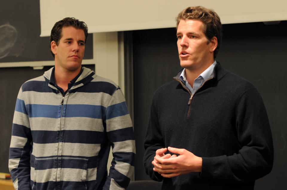 Cameron H. Winklevoss '04 and Tyler H. Winklevoss '04 answer questions from Harvard students about their insights into startup businesses.