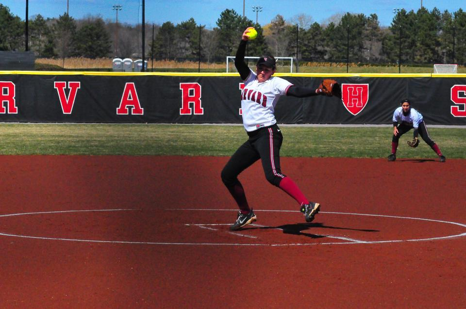 Co-captain Rachel Brown saved the Harvard softball team from elimination in the NCAA regional, allowing two runs in 15 innings of work in a pair of Crimson wins on Saturday.