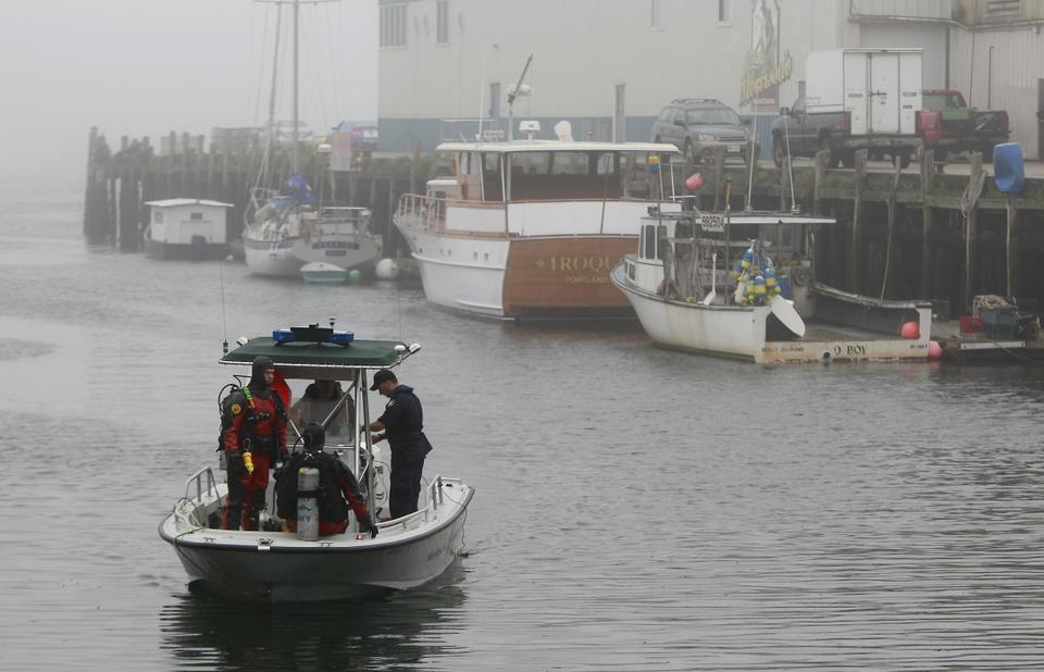 Police in Portland, Maine search the harbor for the body of Harvard Business School student Nathan G. Bihlmaier.