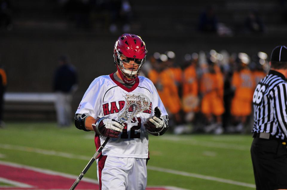 Tri-captain attackman Kevin Vaughan, pictured above, and the Harvard men's lacrosse team failed to earn a berth to this year's Ivy League Tournament due to three straight losses to end the regular season.