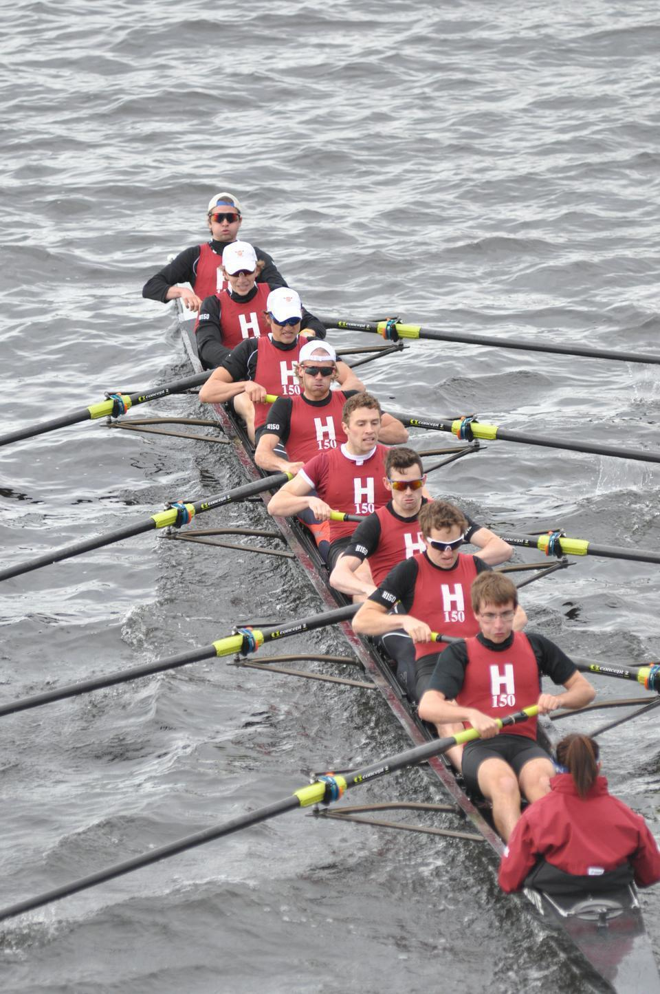 After disappointing conclusions to its previous two seasons, the Harvard lightweight varsity eight, shown here in earlier action, finally broke through in 2012, winning its first national title since 2003 at this past weekend's IRA National Championships.