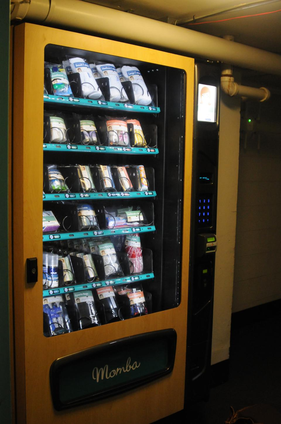 Momba launches its dorm-essential vending machine in Quincy House.  Founded by a Harvard graduate, the company pledges to contribute at least 10% of profits to student financial aid.