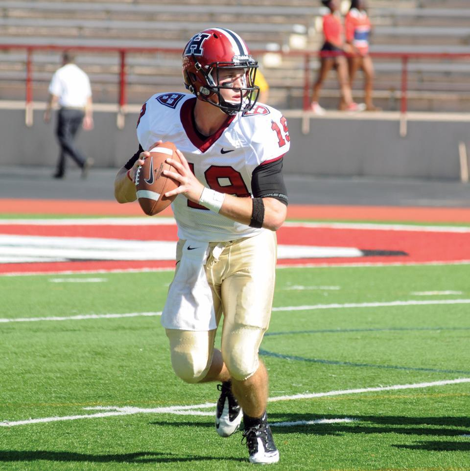 In the Harvard football team's contest against Cornell a year ago, then-junior quarterback Colton Chapple threw for 414 yards, the second highest total in program history, en route to a 41-31 Crimson victory.