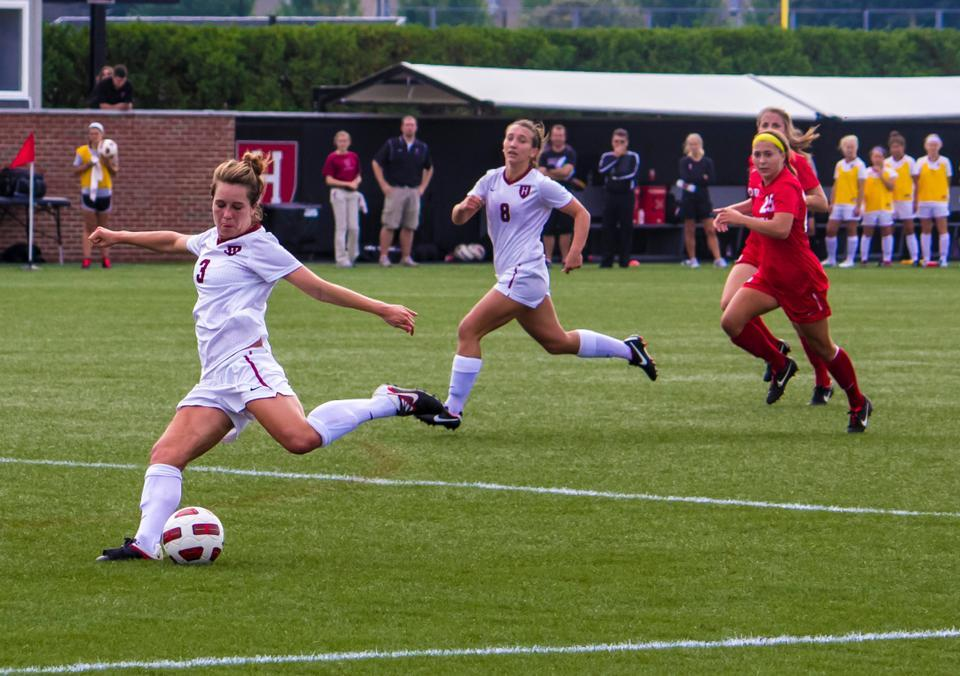 Sophomore Meg Casscells-Hamby and senior Taryn Kurcz lead Harvard in scoring and will work to help the team's offense capitalize on a Brown defense that has struggled to stifle its opponents' attack in Saturday's game.